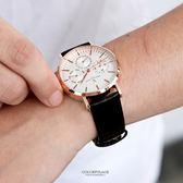 范倫鐵諾˙古柏 三眼皮革手錶 正品原廠公司貨 柒彩年代【NEV41】單支售價