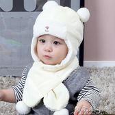 嬰兒帽子3-6-12個月秋冬季加絨新生兒冬帽1-2歲雷鋒帽男女寶寶帽 晴天時尚館