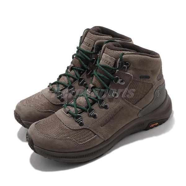 Merrell 戶外鞋 Ontario 85 Mesh Mid Waterproof 黃褐 綠 男鞋 運動鞋 【ACS】 ML034959