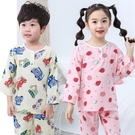 夏季棉綢兒童睡衣長袖薄款防蟲蚊叮咬男童女童孩寶寶綿綢套裝家居服