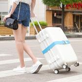 《J 精選》潮流時尚馬卡龍色彈性行李箱束帶(長版)