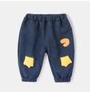 嬰兒褲子冬裝外穿男童牛仔褲女童大pp褲秋冬兒童秋裝寶寶長褲加絨 童趣潮品