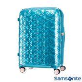 Samsonite新秀麗 24吋Theoni 3D花卉圖案可擴充硬殼登機箱(土耳其藍)
