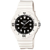 【CASIO】 運動潛水風格腕錶-白X黑面(LRW-200H-1E)