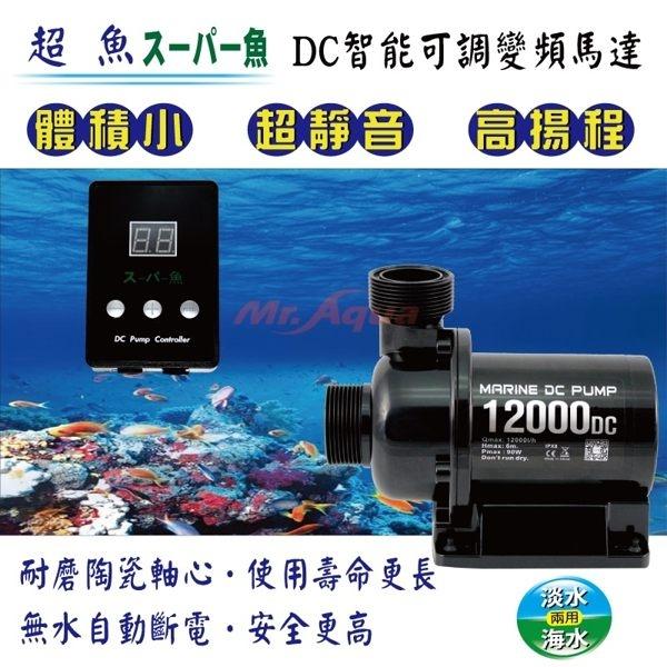 [限時特賣] 超魚 DC智能變頻可調沉水馬達 9000L/H  特價  魚池/池塘可用