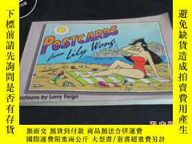 二手書博民逛書店Postcards罕見cartoons by larry fei