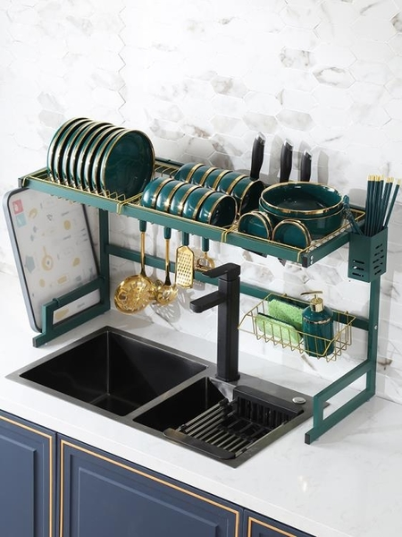碗盤架 BSD 多功能不銹鋼筷子籠瀝水槽置物架碗筷餐具收納盒家用廚房防霉全館促銷