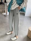 針織寬褲 加絨運動褲女秋冬寬松束腳哈倫灰色2020新款加厚燈籠顯瘦針織衛褲