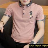 POLO衫 短袖t恤翻領修身韓版半袖polo衫