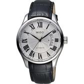 MIDO 美度 Belluna II Gent 羅馬機械手錶-銀x黑/40mm M0244071603300