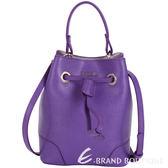 FURLA STACY BUCKET 防刮皮革抽繩束口兩用水桶包(MINI/紫色) 1640248-04