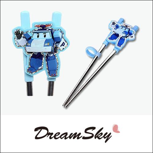 韓國 Edison 救援小英雄 Poli 兒童 寶寶 學習筷 (鐵筷) 筷子 Dreamsky