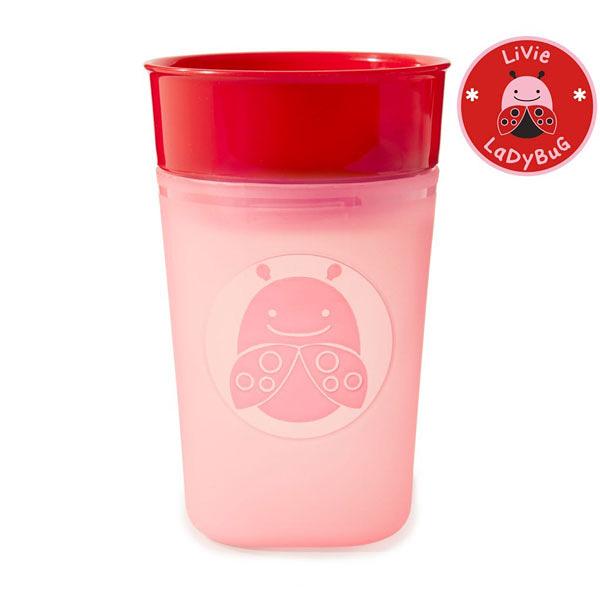 美國SKIP HOP 可愛動物樂園可調流量訓練杯/學習杯/水壺_瓢蟲
