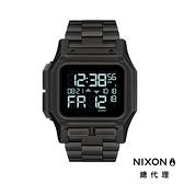 【官方旗艦店】NIXON THE REGULUS SS 霧黑色 鋼錶帶 美國特種部隊認證錶 雙時區 五年續航 美式風格