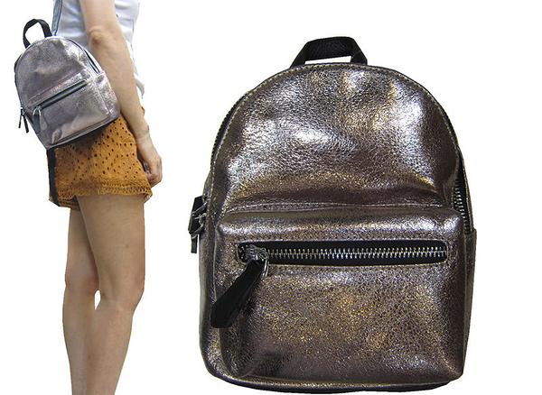 ~雪黛屋~COUNT 後背包超小容量主袋+外袋共二層進口防水牛皮革材質休閒隨身物品BCD50004601160
