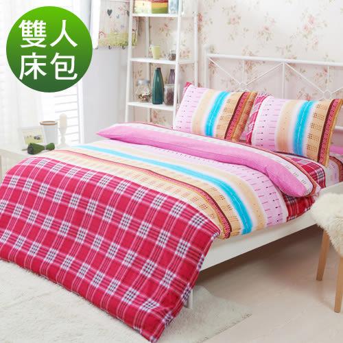 柔絲絨 三件式床包組-美人雅居/雙人/RODERLY