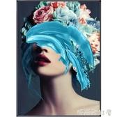 玄關裝飾畫輕奢時尚個性人物美女客廳背景墻掛畫走廊過道臥室壁畫MBS「時尚彩紅屋」