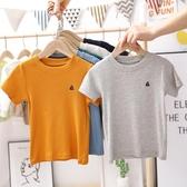 兒童短袖 男童童裝短袖T恤2020夏季新款中小童全棉半袖上衣兒童潮款短T【萬聖夜來臨】