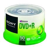 ◆免運費◆SONY 空白光碟片 DVD+R 16X 4.7GB 光碟燒錄片 (50片布丁桶)x1