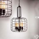 吊燈★LOFT創意工業風 復古鐵藝燈罩吊燈 4燈✦燈具燈飾專業首選✦歐曼尼✦