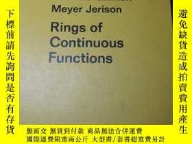 二手書博民逛書店Rings罕見of Continuous Functions (Graduate Texts in Mathema