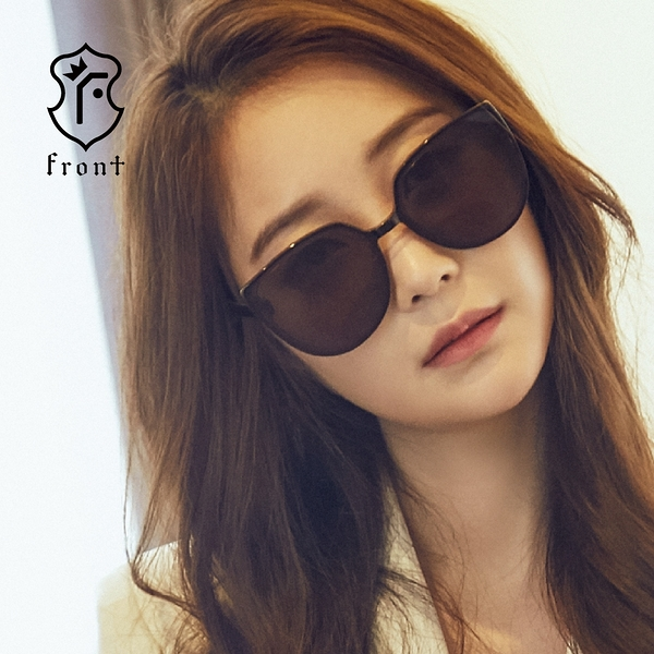 【Front 太陽眼鏡】Palette-三色可挑選#歐美造型大框水銀太陽眼鏡/墨鏡
