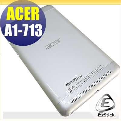 【EZstick】ACER Iconia A1-713 系列專用 二代透氣機身保護貼(平板機身背貼)DIY 包膜