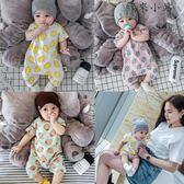 嬰兒連體衣夏季爬服全純棉包屁衣