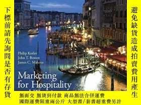 二手書博民逛書店Marketing罕見For Hospitality & Tou