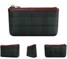 【橘子包包館】SANTA BARBARA POLO 綠格 男用 零錢包/鑰匙包 SB38-03807