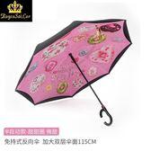 創意全自動免持式可站立雙層反向傘