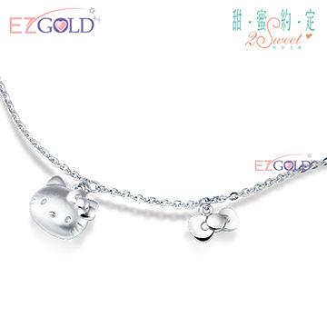 Hello Kitty凱蒂貓-就是經典-銀飾手鍊