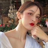耳環女長款氣質韓國百搭高級耳飾潮小眾法式耳釘【極簡生活】