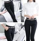 黑色工作褲子女夏新款薄款寬鬆直筒顯瘦百搭職業休閒長西裝褲