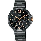 台灣獨賣 情人限量300只 ALBA雅柏 Fashion Lady 日曆女錶-鍍黑 VD75-X113SD(AP6579X1)