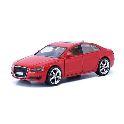 【風車】Audi紅-經典豪華炫光合金模型車