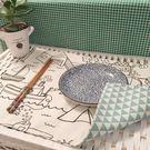 可愛時尚雙層全棉麻隔熱防滑墊 雙面桌墊餐墊 杯墊 餐巾 (四入)