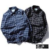 『潮段班』【GN000910】日韓秋冬新款英倫風復古簡約格紋休閒襯衫