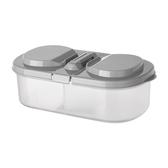 雙格有蓋冰箱儲物盒/分格收納盒(1入) 【小三美日】 顏色隨機出貨