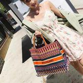 購物包 單肩包購物包手提女包包時尚百搭大容量【美物居家館】