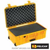 美國 PELICAN 1535 Air 輪座拉桿超輕氣密箱-含泡棉 (黃色) 公司貨