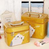 化妝包大容量多功能簡約雙層手提旅行便攜新品洗漱包化妝收納包盒   遇見生活