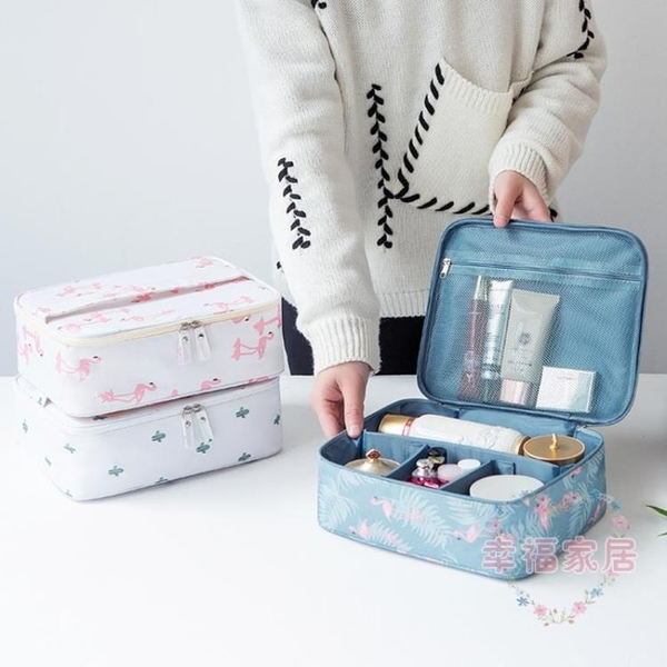 化妝包小號便攜正韓簡約大容量多功能收納袋少女洗漱品盒化妝箱