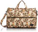 HAPI+TAS 摺疊小旅行袋 - 米色樹葉
