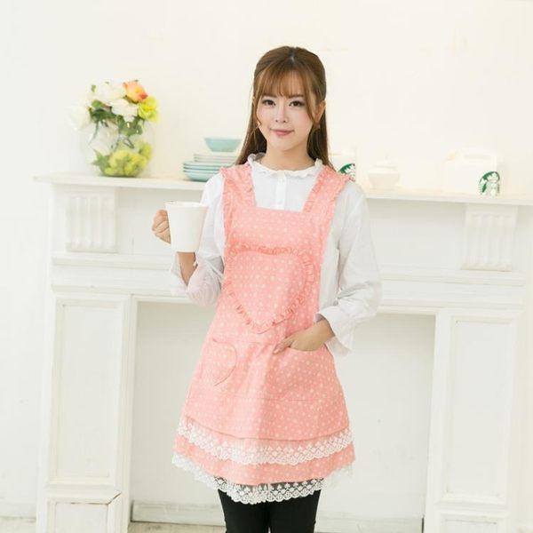降價三天-時尚圍裙服務員廚房可愛圍裙