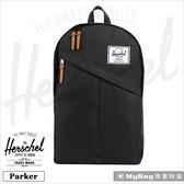 Herschel 後背包 黑色 斜拉鍊設計 15吋電腦後背包 Parker-001 MyBag得意時袋