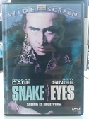 挖寶二手片-0B02-674-正版DVD-電影【蛇眼】-尼可拉斯凱吉 不可能的任務導演(直購價)