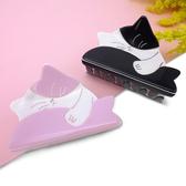 ~貓粉選物~貓粉髮夾貓抱魚粉色黑色兩款