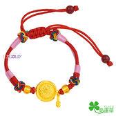 彌月黃金編織手環-狀元鑼-GL068