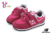New Balance 574 小童運動鞋 復古慢跑鞋 O8413#桃紅◆OSOME奧森童鞋